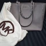 Michael Kors Bags | Michael Kors Gray Purse | Color: Gray/Silver | Size: Os