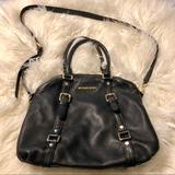 Michael Kors Bags | Michael Kors Black Leather Bag | Color: Black/Gold | Size: Os