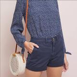 Anthropologie Shorts | Anthropologie Pilcro Hyphen Chino Shorts New 24 | Color: Blue | Size: 24