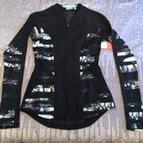 Athleta Jackets & Coats | Athleta Full Zip Blackgray Jacket With Mesh Back | Color: Black/Gray | Size: Xxs