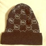 Michael Kors Other | Black Michael Kors Beanie Hat | Color: Black/Gray | Size: Os