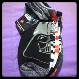 Disney Accessories   5 Pairs Of Star Wars No Show Socks Disney Brand   Color: Black/White   Size: Shoe Size 4-10