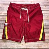 American Eagle Outfitters Swim   American Eagle Swim Trunks Shorts Red   Color: Red   Size: 36