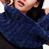 Free People Accessories | Free People Love Bug Chenille Twisted Scarf | Color: Blue | Size: Os