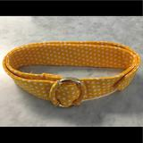 J. Crew Accessories | J. Crew Nwt Fabric Belt With Gold Bamboo Hardware | Color: Yellow | Size: Smallmedium