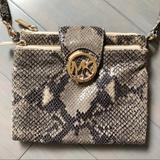 Michael Kors Bags | Michael Kors Python Snake Embossed Leather Bag | Color: Black/Gray | Size: Os