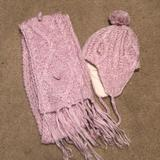 American Eagle Outfitters Accessories   Hat And Scarf Set   Color: Pink   Size: Os