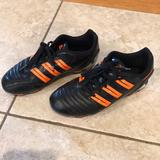 Adidas Shoes   Adidas Soccer Shoes For Kids   Color: Black/Orange   Size: 3b