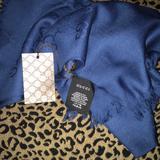 Gucci Accessories | Authentic Gucci Scarf | Color: Blue | Size: 45 X 180 Cm