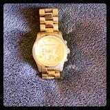 Michael Kors Jewelry   Michael Kors Chronograph Ritz Bracelet Watch   Color: Gold   Size: 37mm, Adjustable Band