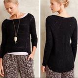 Anthropologie Sweaters   Moth For Anthro Stich Mix High Low Alpaca Sweater   Color: Black   Size: S