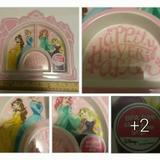 Disney Party Supplies | ** Disney Princess Jumping Bean Divide Lunch Snack | Color: Pink/White | Size: Os