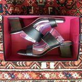 Nine West Shoes | Nine West Churen Double Strap Mule Sandals Nwt | Color: Black | Size: 8