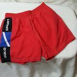 Polo By Ralph Lauren Swim | Men'S Polo Sport Swim Suit Size L | Color: Black/Red | Size: L