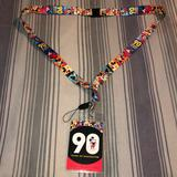 Disney Accessories | 90 Years Of Mickey Imagination Disney Lanyard Nwot | Color: Blue/Red | Size: Os