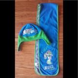 Disney Other | Buzz Hat And Scarf Set | Color: Blue/Green | Size: Osb