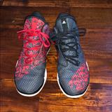 Adidas Shoes   Adidas High Tops   Color: Black/Red   Size: 5.5b