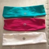 Lululemon Athletica Accessories | 3 Lulumeon Reversible Headbands | Color: Blue/White | Size: Os