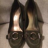 Nine West Shoes | N I N E W E S T Womens Heels Suede | Color: Green | Size: 8.5
