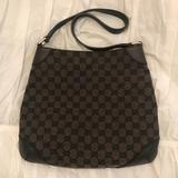 Gucci Bags   Authentic Gucci Gg Canvas And Leather Shoulder Bag   Color: Brown   Size: Os
