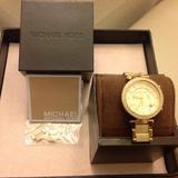 Michael Kors Jewelry   Michael Kors Gold Tone Safari Parker Watch   Color: Gold   Size: 6 To 7-12