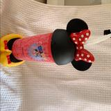 Disney Accessories | Minnie Mouse Cup With Straw | Color: Red/Yellow | Size: Os