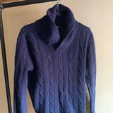 J. Crew Sweaters   J. Crew Lambswool Shawl Neck Sweater   Color: Blue   Size: M