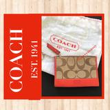 Coach Accessories   Coach Card Holderkey Chain   Color: Red/Tan   Size: 4 & 12 X 3 & 14
