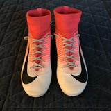 Nike Shoes | Kids Nike Mercurial Soccer Cleats | Color: Pink/White | Size: 5b