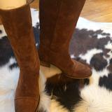 J. Crew Shoes   J. Crew Brown Distressed Suede Midcalf Boots 6 12   Color: Brown   Size: 6.5