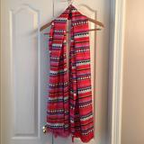 Kate Spade Accessories | 100% Silk Kate Spade Geometric Pattern Pink Scarf | Color: Black/Blue/Pink/Red/White | Size: Os