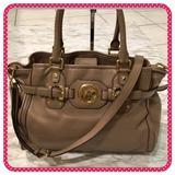 Michael Kors Bags | Michael Kors Brown Large Handbagshoulder Bag | Color: Brown/Gold | Size: Length 14 X Height 10 X Width 5
