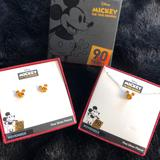 Disney Jewelry | Disney Mickey Crystal Fine Silver Plated Set | Color: Silver | Size: Os