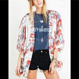 Urban Outfitters Other   Kimchi Blueegret Scarf Kimono In Rose Print   Color: Red   Size: Xss