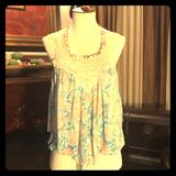 Free People Tops | Free People Backless Top | Color: Blue/Pink | Size: Xs