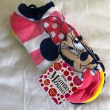 Disney Accessories   5 Pairs No Show Minnie Socks - L4-10   Color: Pink   Size: Kids L(4-10)