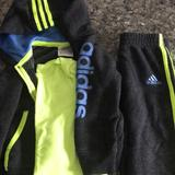 Adidas Matching Sets | Adidas Toddler Boy Tracksuit | Color: Gray/Yellow | Size: 18mb