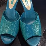 Nine West Shoes | Cork Wedge | Color: Blue | Size: 7