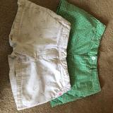 Ralph Lauren Bottoms | 2 Pairs Of Girls Shorts Size 14. | Color: Green/Pink/Silver/White | Size: 14g