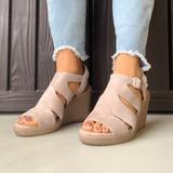 Giani Bernini Shoes   Ash Grey Peep Toe Platform Wedge Sandal   Color: Cream   Size: Various