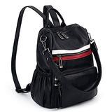UTO Women Backpack Purse Leather Vegan Ladies Fashion Designer Rucksack Convertible Travel Shoulder Bag with Tassel Black/Red/White