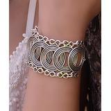 YUSHI Women's Bracelets ANTIQUE - Silvertone Locking Circle Bracelet