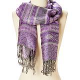 Italmode Women's Accent Scarves Purple - Purple Geometric Scarf - Women