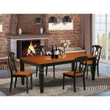 Darby Home Co Beesley 5 - Piece Butterfly Leaf Rubberwood Solid Wood Dining SetWood in Black/Brown, Size 30.0 H in   Wayfair DABY5520 39638820