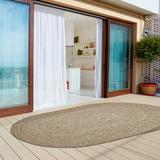 Highland Dunes Ulmer Canvas Indoor/Outdoor Area Rug Polyester/Polypropylene in Brown, Size 96.0 H x 60.0 W x 0.1 D in | Wayfair