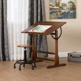 """Drafting Table - Studio Designs Solid Wood Drafting Table, Wood/Metal/Solid Wood in Rustic Oak, Size 36"""" H x 42"""" W x 30"""" D"""