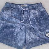 American Eagle Outfitters Swim | American Eagle Swim Trunks Drawstring Waist Euc | Color: Blue/Gray | Size: Sb