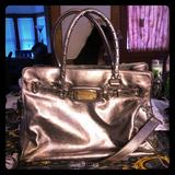 Michael Kors Bags | Basically New Michael Kors Pewter Leather Bag | Color: Gray/Silver | Size: Os