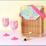 Lilly Pulitzer Other   Lilly Pulitzer Wine Basket Set   Color: Gold   Size: Os