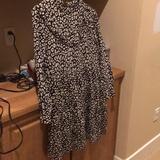 Zara Dresses | Animal Print Zara Babydoll Dress | Color: Black/Cream | Size: M